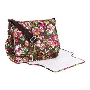 Vera Bradley English rose messenger/diaper bag